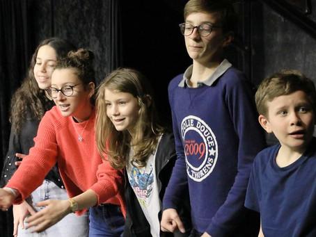 Portes Ouvertes section Théâtre 12-14 ans du Samedi Classe de Marie Burvingt: C'est comme si vous y