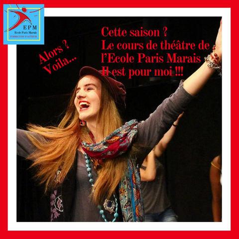 A l'Ecole Paris Marais… La saison 21-22 prend son envol.