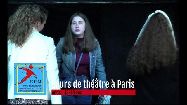 A l'Ecole Paris Marais... Me rejouer, moi ? Ah non !