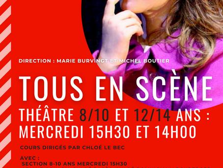 Les 8/10 et 12/14 du mercredi jouent sur scène au Théâtre Espace Marais