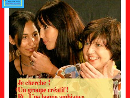 Dans mon groupe de théâtre… Ma créativité est décuplée !