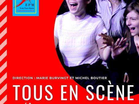 Sur scène… Les acteurs quittent le masque
