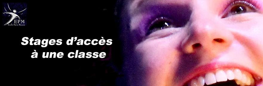 Stages d'accès Théâtre, cinéma, à une classe adulte   - Ecole Paris Marais - 22 rue Beautreillis - 75004 Paris -01.48.04.09.05.57