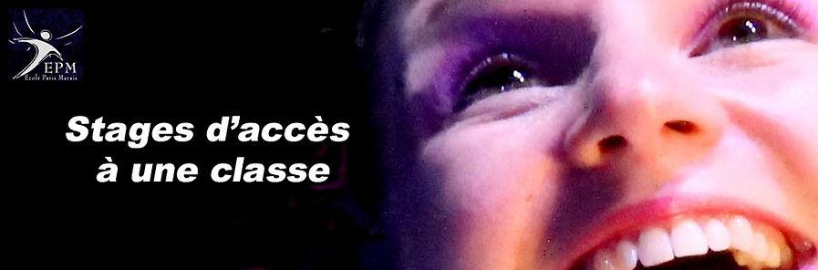 Stages d'accès à une classe de théâtre adulte   - Ecole Paris Marais - 22 rue Beautreillis - 75004 Paris -01.48.04.09.05.57