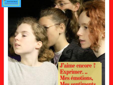 """Le théâtre ? C'est... """" Le journal de mes émotions """""""