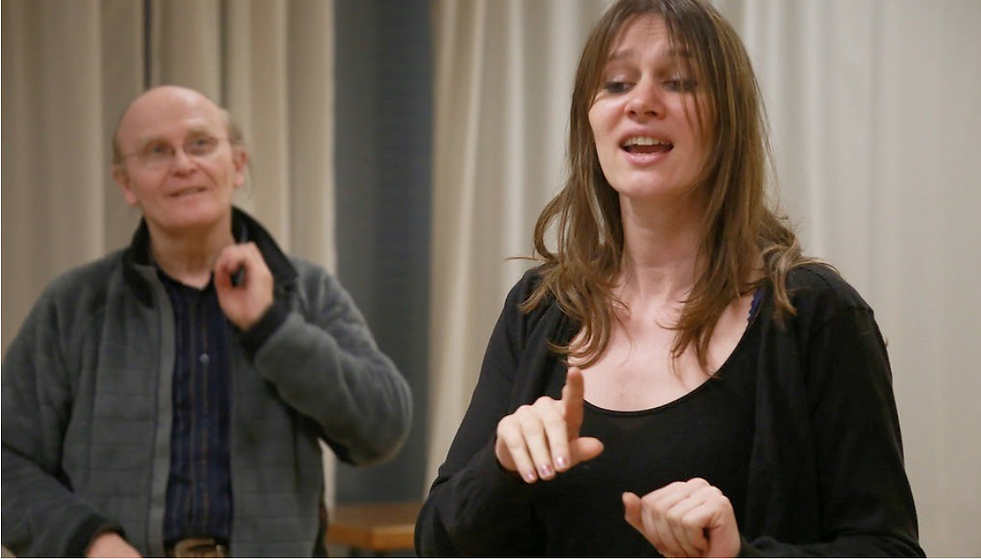 Ecole Paris Marais : cours de théâtre adulte avancé : une mise en scène trés structurée...