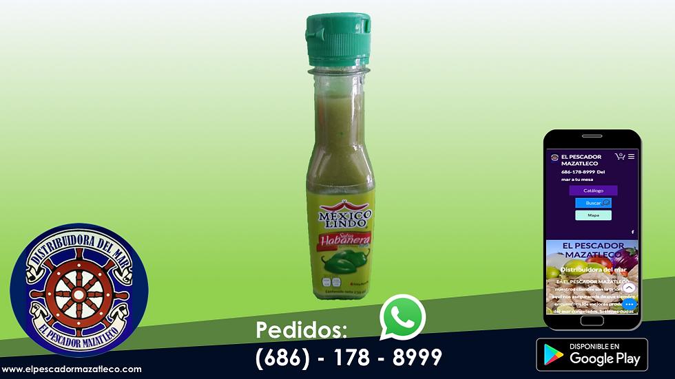 Salsa México Lindo Habanero Verde 150 ML