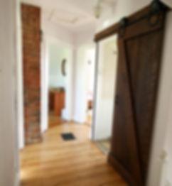 barn door, barn style sliding door, farm house restoration, diy barn door