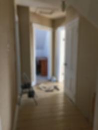 old hallway, hallway reno, how to renovate a room