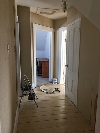 old hallway, hallway reno, how to renovate a room