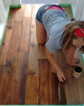 how to refinish wood floors, DIY floor restoration, how to sand floors, how to stain floors