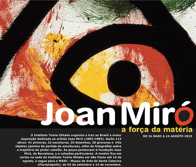 Exposição Joan Miró no Instituto Tomie Ohtake