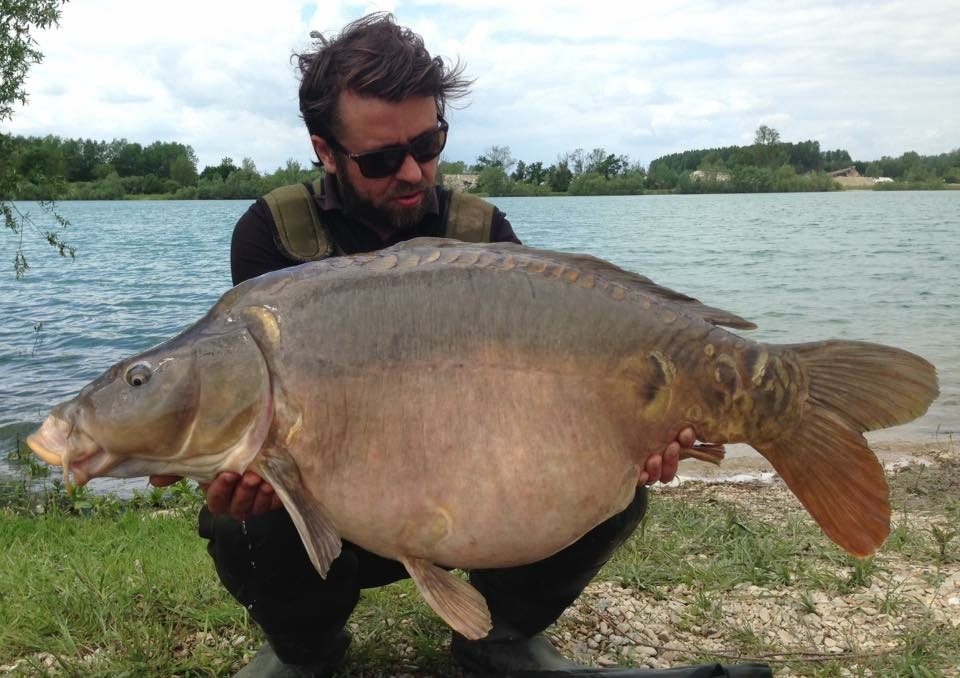 Ben with his PB carp of nearly 50lb