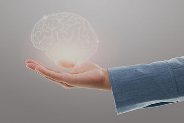 female-doctor-holding-brain-illustration