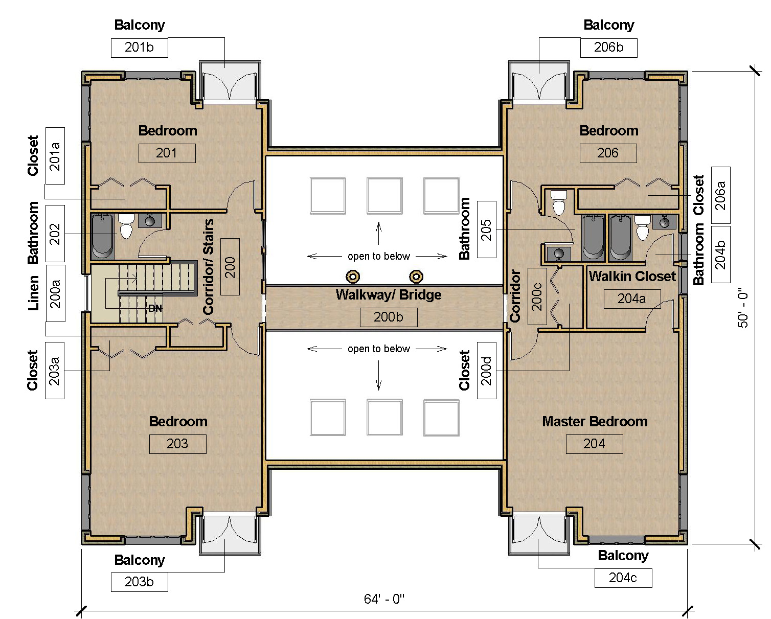 UPPER LEVEL - FLOOR PLAN