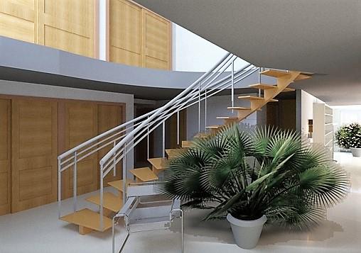 Interior Staircase at entrance