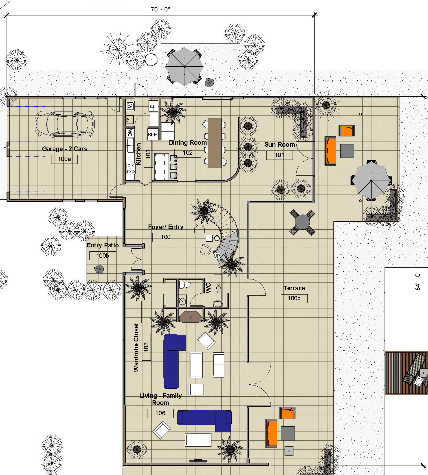 Main Level - Floor Plan