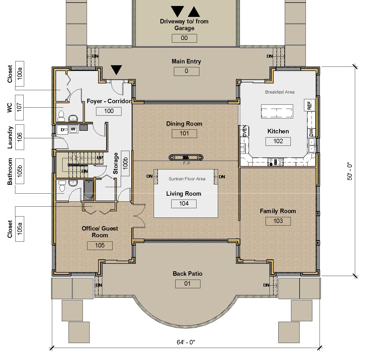 MAIN LEVEL - FLOOR PLAN