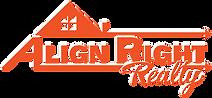 Align Right Logo - Orange - White Shadow
