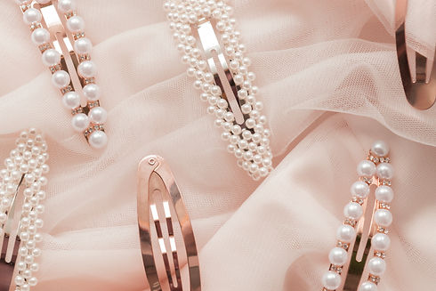 hair accessories trend concept pattern o