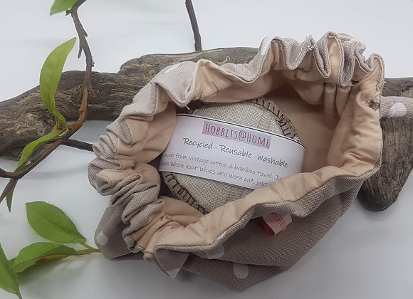 ECO-LUX Washable wipes pouch & bag 'Spot'