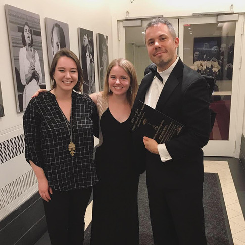 With Francesca Leo and former teacher, Conor Nelson