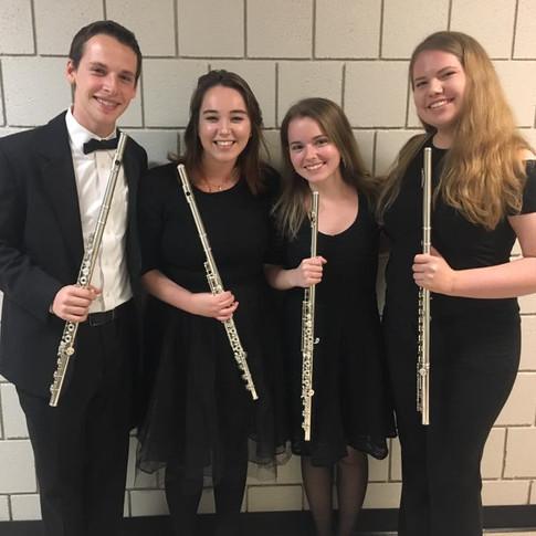BGSU Philharmonia flute section