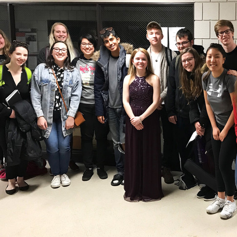 With the BGSU flute studio after my master's recital