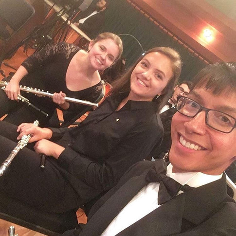 With Martin Godoy and Faith Ann Santucci after UNT Symphony Orchestra concert