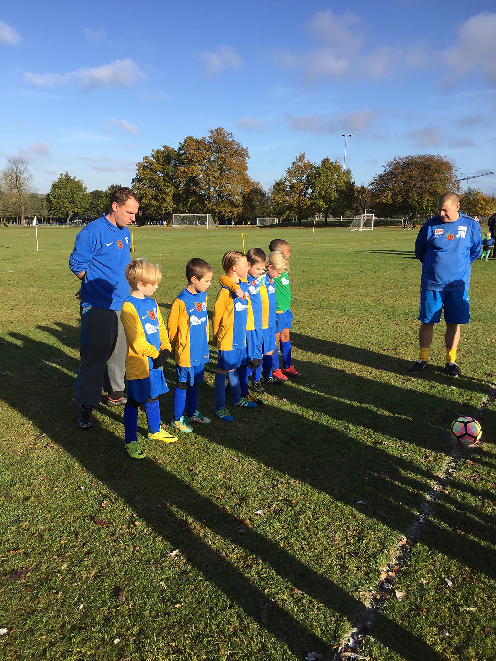 Some of our teams paying their respect during the minute silence before Kick Off today,