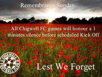 Remembrance Sunday -  12 November 2017