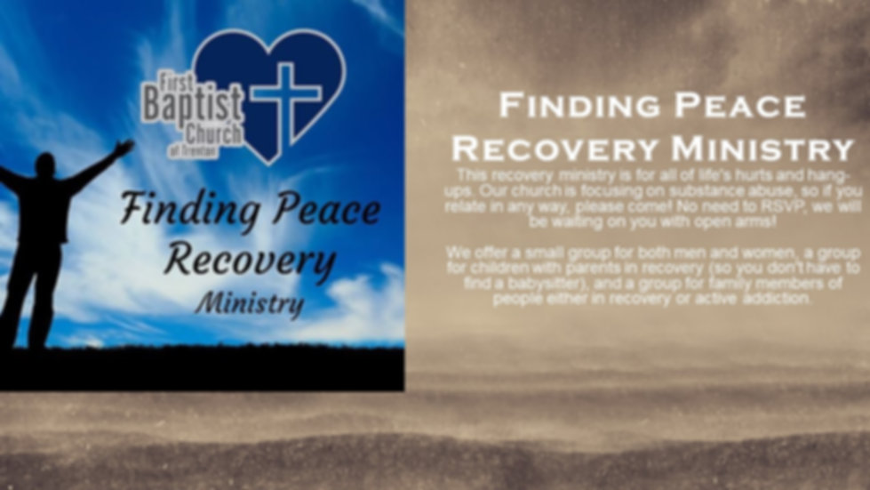 Finding Peace Recovery Ministry