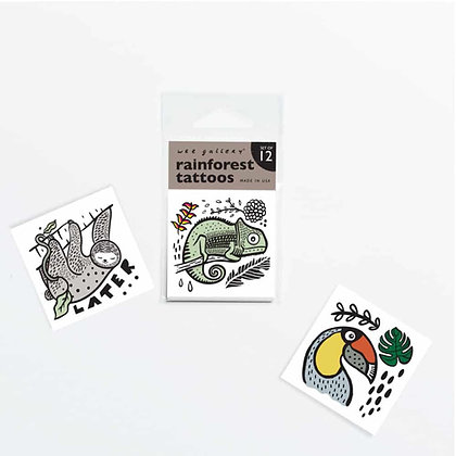 Small Non-Toxic Temporary Tattoos for Kids Rainforest Theme