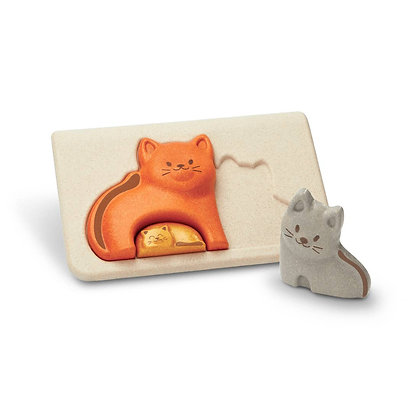 Sustainable Cat Puzzle Toy for Toddlers