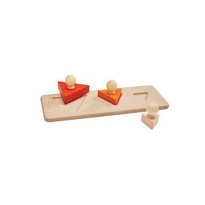 Montessori Style Triangle Matching Puzzle
