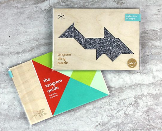 Shark Tangram Puzzle with Additional Combinations