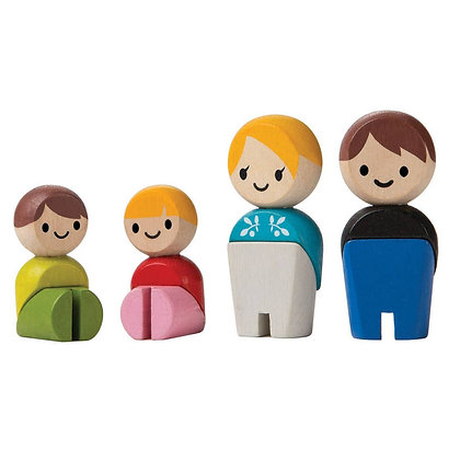 Small Wooden Family for Small World and Pretend Play