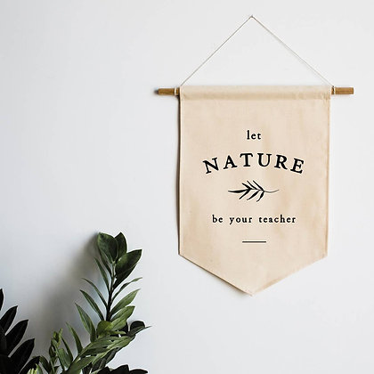 Let Nature Be Your Guide Canvas Banner for Kids Area