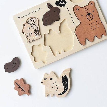 Wooden Puzzle for Kids Woodland Theme