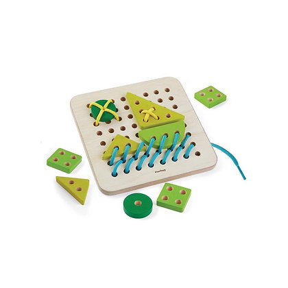 Montessori Style Woden Lacing Toy for Toddlers