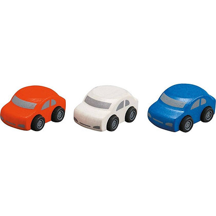 Smooth Rolling Small Red White and Blue Cars for Kids