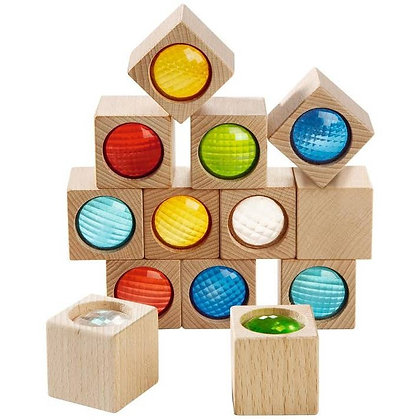 Kaleidoscopic Wooden Building Blocks Open-Ended Toy