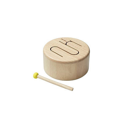 Wooden Natural Drum Toy for Kids