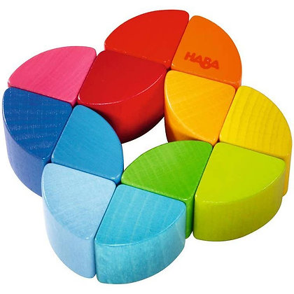 Wooden Rainbow Clutching Toy for Babies by Haba