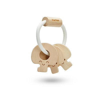 Natural Wooden Baby Toy Keys