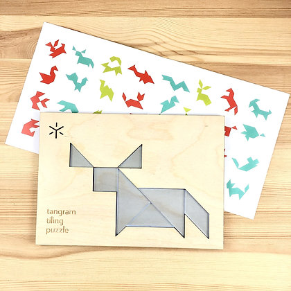Bull Tangram Puzzle for Kids with Additional Combinations