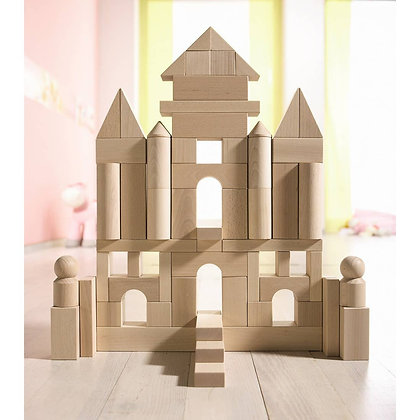 Wooden Building Blocks Large Set