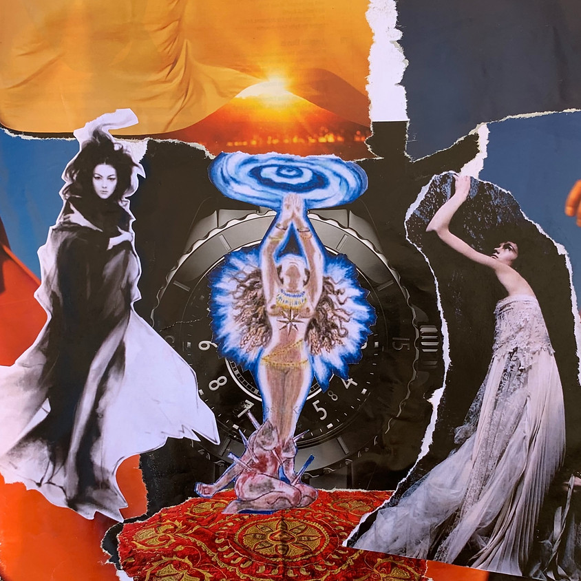 Collage with Inanna: Queen of Heaven and Earth