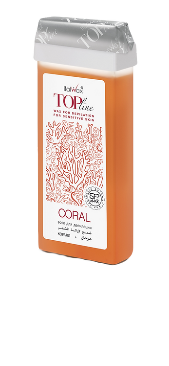 Гібридний теплий віск Корал Top Line ItalWax (ш/р), 100 мл NEW