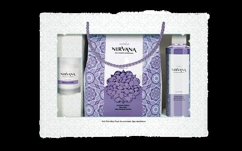 Подарунковий набір для аромадепіляції Лаванда NIRVANA ItalWax